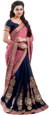Shoppingover Embriodered Fashion Handloom Georgette Sari