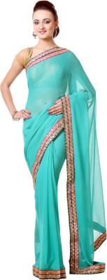 Saanvi Self Design Fashion Georgette Sari