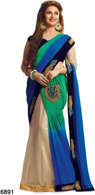 Sarees House Self Design, Embriodered Bollywood Georgette Sari