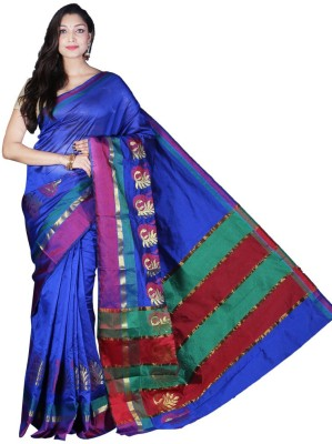 Glamorous Lady Plain Banarasi Banarasi Silk Sari