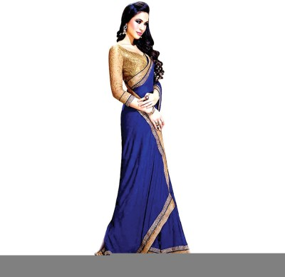 Makekaartz Solid Bollywood Georgette Sari