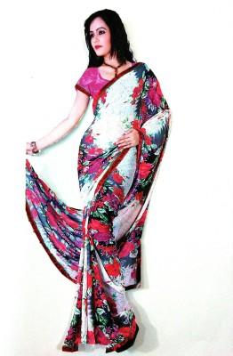 Siddhima Printed Leheria Synthetic Fabric Sari
