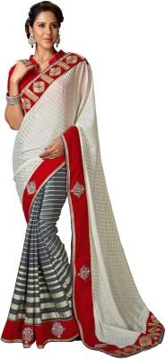 Style Sensus Self Design Bollywood Chiffon Sari