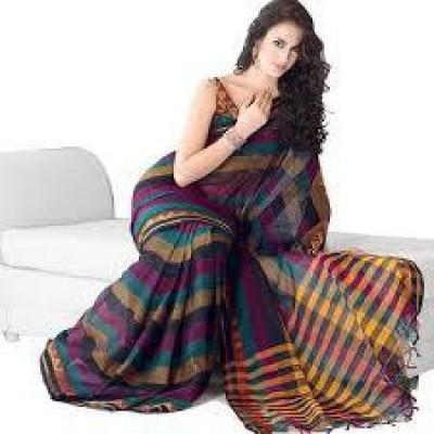 ARVM SAREES Printed Fashion Cotton Sari