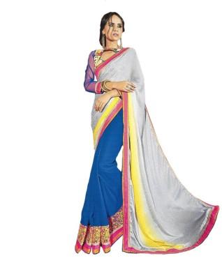 Sangam Collections Self Design Bollywood Georgette Sari