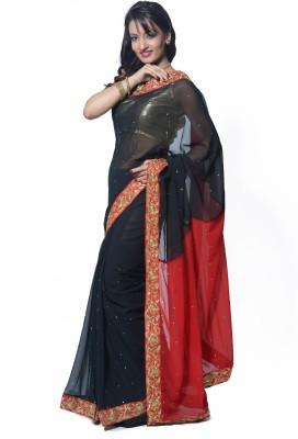 RCPC Solid Bollywood Georgette Sari