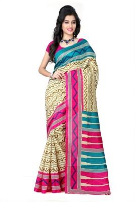 Bikaw Printed Bhagalpuri Silk Sari