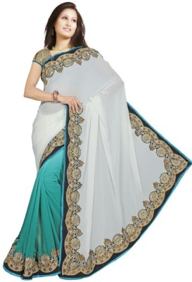 Kesar Sarees Solid Bollywood Georgette Sari