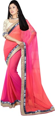 Supriya Fashion Self Design Bollywood Georgette Sari