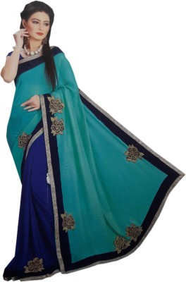 PRINCE DESINER Embriodered Fashion Synthetic Fabric Sari