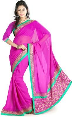 Ethnic For You Embriodered Fashion Chiffon Sari