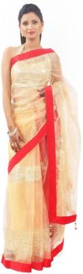 Get Style At Home Self Design Bollywood Net Sari