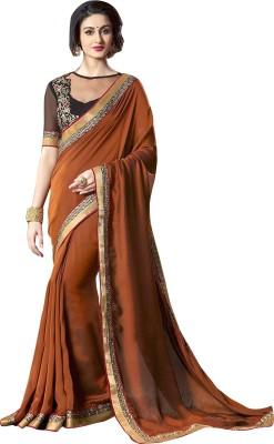 EthnicBasket Embriodered Fashion Georgette Sari