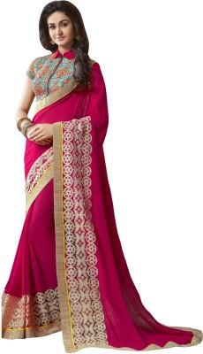 Fashion Forever Embriodered Fashion Georgette Sari