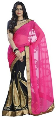 Makekaartz Self Design Fashion Chiffon Sari