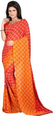 Anu Creation Printed Madhubani Georgette Sari