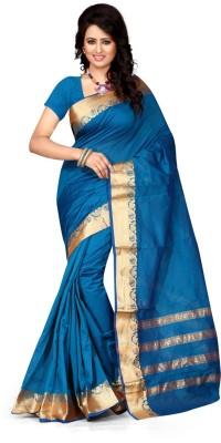 zhenith creation Embellished Banarasi Banarasi Silk Sari
