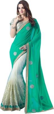Rajhans Fashion Embellished Fashion Georgette, Net Sari