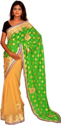 Jagadamba Solid Bollywood Chiffon Sari