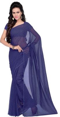 Goodfeel Polka Print Fashion Georgette Sari