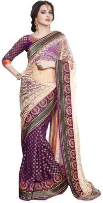 Paarampariya Printed Fashion Jacquard, Net, Viscose Sari