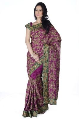 Ambition Sarees Self Design Fashion Silk Sari