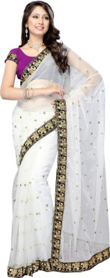 Dlines Self Design Fashion Net Sari