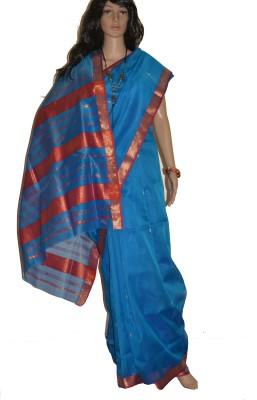 Trendysaree Self Design Maheshwari Handloom Silk Cotton Blend Sari