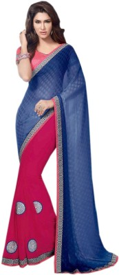 Shoppingover Embriodered Bollywood Handloom Georgette Sari
