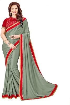 Aesha Embellished Fashion Satin Sari