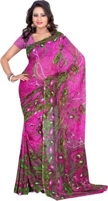 Lucky Fashion Self Design Fashion Handloom Georgette Sari