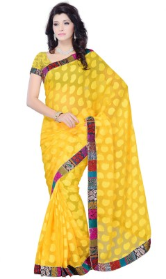 JTInternational Self Design Fashion Jacquard Sari