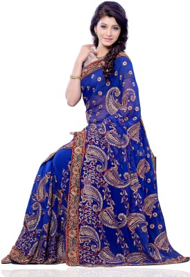Diva Fashion Self Design Fashion Georgette Sari