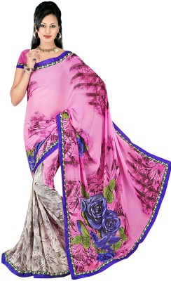 Janya Self Design Dhaniakhali Georgette Sari