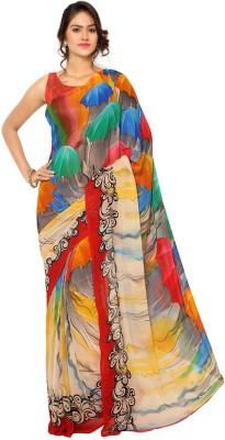 Ligalz Printed Daily Wear Chiffon Sari