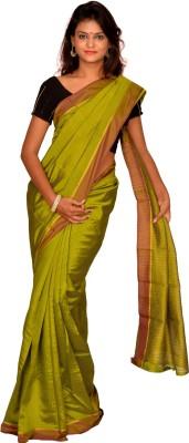 Jagadamba Plain Fashion Silk Sari