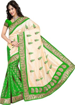 Wear N Glow Printed Fashion Art Silk Sari