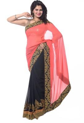 Sagrika Designs Embriodered Fashion Georgette Sari