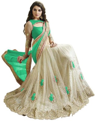 Matindra Enterprise Embriodered Fashion Net, Georgette Sari