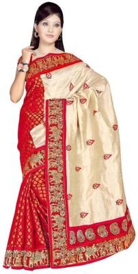 Snreks Collection Embriodered Chanderi Chanderi Sari