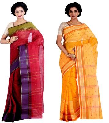 Brishti Creations Woven Tangail Handloom Cotton Sari