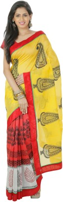 Shree Saree Kunj Printed Bollywood Chanderi Sari