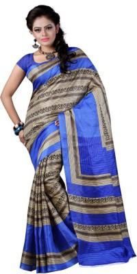 Vishnupriya Fabs Printed Fashion Poly Silk Sari