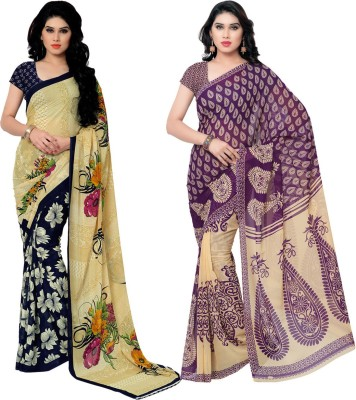 KASHVISAREES Printed Fashion Georgette Sari