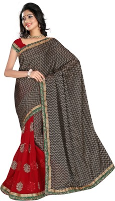 Anwesha Sarees Embriodered Fashion Georgette Sari