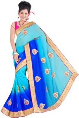 Sundari Fashion Embriodered Fashion Chiffon Sari