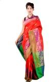 ASP Woven Banarasi Dupion Silk Saree (Re...