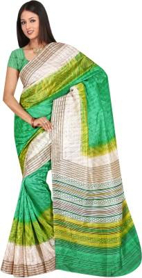 SareeShop Striped Bhagalpuri Crepe Sari