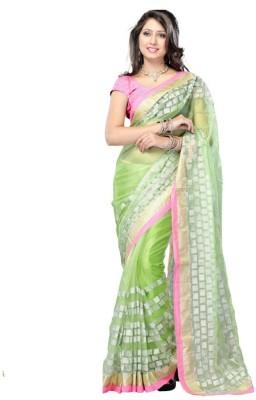 SRK Self Design Bollywood Net Sari