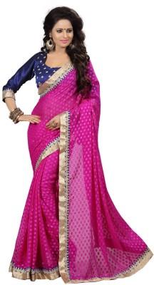Kpcreation Self Design Fashion Viscose Sari